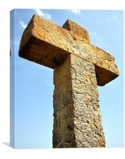 Cross on Mountain Top, Canvas Print