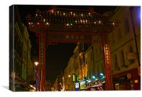 ENTRANCE IN CHINA TOWN, Canvas Print