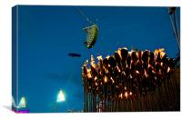 OLYMPIC FLAME, Canvas Print