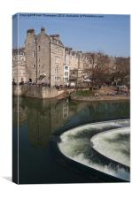 Bath River Avon Weir, Canvas Print
