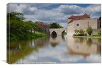 Leeds Castle Moat, Canvas Print