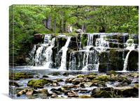 Waterfall in Yorkshire, Canvas Print