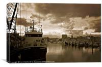 The Barbican Plymouth, Canvas Print