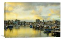Plymouth Barbican, Canvas Print
