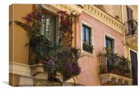 Beautiful Balconies, Canvas Print