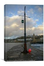 Blue sky over porthleven, Canvas Print