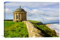 Mussenden Temple on the North Coast of Ireland , Canvas Print