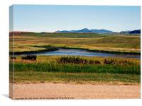 MONTANA IN THE SUMMER, Canvas Print