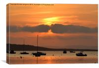 Mudeford Quay Sunset, Canvas Print