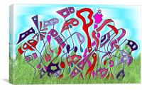 Ukranian Wrench Garden, Canvas Print