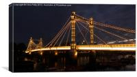Albert Bridge, London, Night, Canvas Print