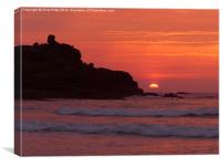 St Ives, Cornwall, Sunset, Canvas Print