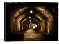 Chee Tor No 1 Tunnel, Derbyshire, Monsal Trail, Canvas Print
