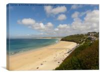 Carbis Bay, Cornwall, Canvas Print
