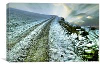 Icy Morning in Calderdale, Canvas Print