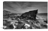 Rusting Boat, Canvas Print