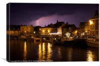 Lighting Across Weymouth Harbour, Canvas Print