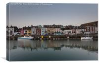 Weymouth's Harbour front at Sunrise April 2015, Canvas Print
