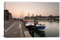 Two Fishing Boats, Canvas Print