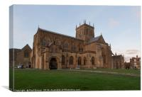 Sherborne Abbey in Autumn, Canvas Print
