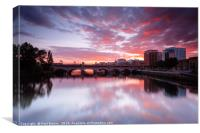 The River Clyde , Canvas Print