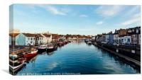 Weymouth Harbour at sunset, Canvas Print