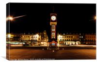 Weymouth Jubilee Clock at Night , Canvas Print