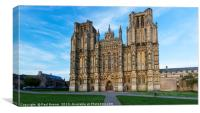 Wells Cathedral on Good Friday, Canvas Print