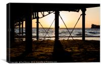 Weston Super Mare Pier at Sunset, Canvas Print