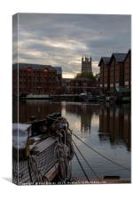 Gloucester Docks and Gloucester Cathedral, Canvas Print