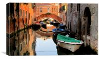 Canal in Venice, Canvas Print