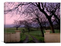 Just down the Road..., Canvas Print