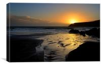 Sunset near Dingle, Canvas Print