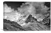 Dolomites from The Lagazuoi Tunnels, Canvas Print