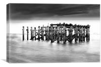 Abandoned jetty Redcar, South Gare, Canvas Print