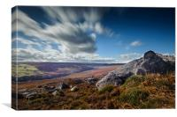 Slow moving clouds over Dales, Canvas Print