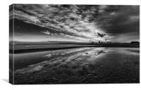 Redcar Steel works South Gare, Canvas Print