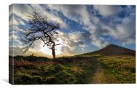Roseberry Topping Winter Blue Skies, Canvas Print