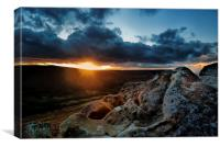 Sunset over Scugdale North Yorkshire, Canvas Print