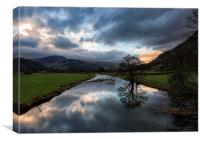 Storm approaching over Ullswater, Canvas Print