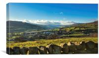 Reeth Yorkshire Dales, Canvas Print