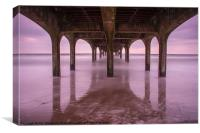 The Pier Exposed, Canvas Print
