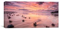 Sunrise and seashells, Canvas Print