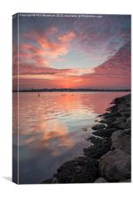After the sun went down, Canvas Print