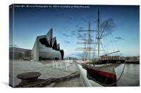 The Glenlee at the Riverside, Canvas Print