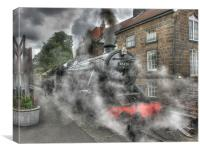 Locomotive at Grosmont, Canvas Print