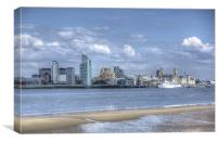 Liverpool water front, Canvas Print