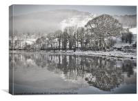 Snow at Lake Windermere, Canvas Print