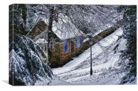 Snowy Lane, Canvas Print