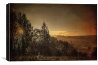 Autumn sunrise, Canvas Print